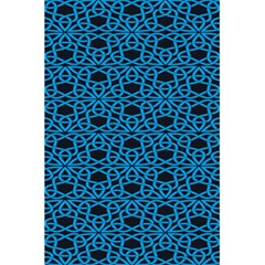Triangle Knot Blue And Black Fabric 5 5  X 8 5  Notebooks