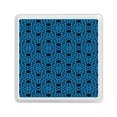 Triangle Knot Blue And Black Fabric Memory Card Reader (square)