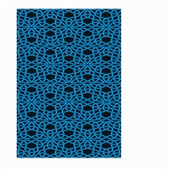 Triangle Knot Blue And Black Fabric Large Garden Flag (two Sides)