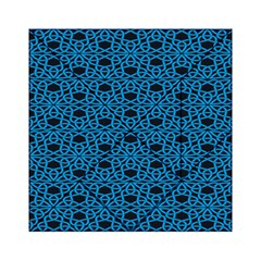 Triangle Knot Blue And Black Fabric Acrylic Tangram Puzzle (6  X 6 )