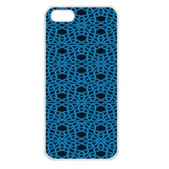 Triangle Knot Blue And Black Fabric Apple Iphone 5 Seamless Case (white)