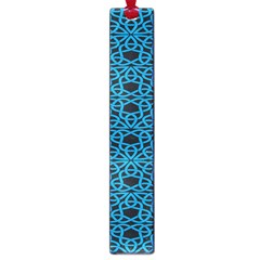 Triangle Knot Blue And Black Fabric Large Book Marks