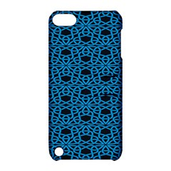 Triangle Knot Blue And Black Fabric Apple Ipod Touch 5 Hardshell Case With Stand