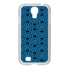 Triangle Knot Blue And Black Fabric Samsung Galaxy S4 I9500/ I9505 Case (white)