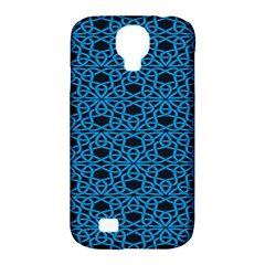 Triangle Knot Blue And Black Fabric Samsung Galaxy S4 Classic Hardshell Case (pc+silicone)