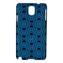 Triangle Knot Blue And Black Fabric Samsung Galaxy Note 3 N9005 Hardshell Case