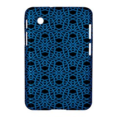Triangle Knot Blue And Black Fabric Samsung Galaxy Tab 2 (7 ) P3100 Hardshell Case