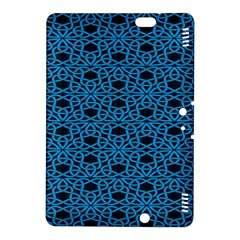Triangle Knot Blue And Black Fabric Kindle Fire Hdx 8 9  Hardshell Case