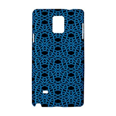 Triangle Knot Blue And Black Fabric Samsung Galaxy Note 4 Hardshell Case