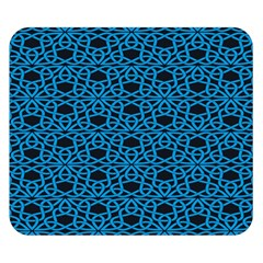 Triangle Knot Blue And Black Fabric Double Sided Flano Blanket (small)