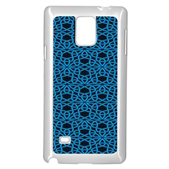 Triangle Knot Blue And Black Fabric Samsung Galaxy Note 4 Case (white)