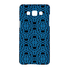 Triangle Knot Blue And Black Fabric Samsung Galaxy A5 Hardshell Case