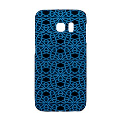Triangle Knot Blue And Black Fabric Galaxy S6 Edge