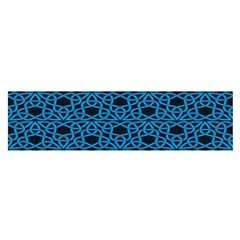 Triangle Knot Blue And Black Fabric Satin Scarf (oblong)