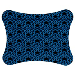Triangle Knot Blue And Black Fabric Jigsaw Puzzle Photo Stand (bow)