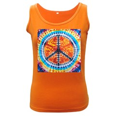 Tie Dye Peace Sign Women s Dark Tank Top