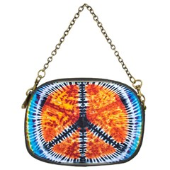 Tie Dye Peace Sign Chain Purses (two Sides)
