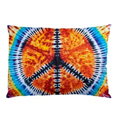 Tie Dye Peace Sign Pillow Case (two Sides)