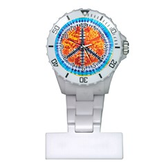 Tie Dye Peace Sign Plastic Nurses Watch