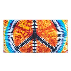 Tie Dye Peace Sign Satin Shawl