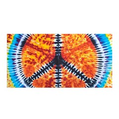 Tie Dye Peace Sign Satin Wrap