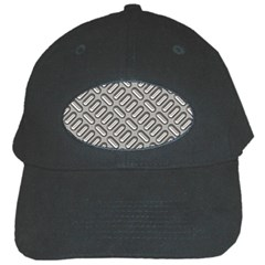 Grey Diamond Metal Texture Black Cap