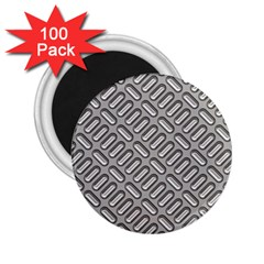 Grey Diamond Metal Texture 2 25  Magnets (100 Pack)