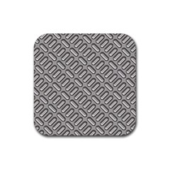 Grey Diamond Metal Texture Rubber Coaster (square)
