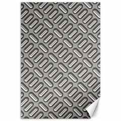 Grey Diamond Metal Texture Canvas 12  X 18