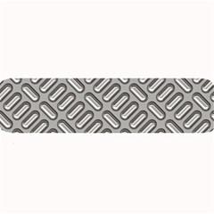 Grey Diamond Metal Texture Large Bar Mats