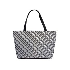 Grey Diamond Metal Texture Shoulder Handbags