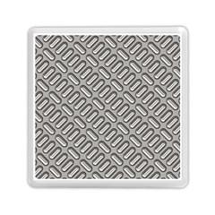 Grey Diamond Metal Texture Memory Card Reader (square)