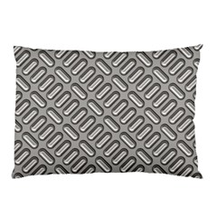 Grey Diamond Metal Texture Pillow Case (two Sides)