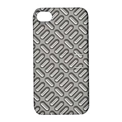 Grey Diamond Metal Texture Apple Iphone 4/4s Hardshell Case With Stand