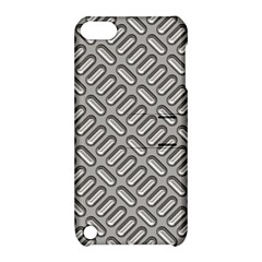 Grey Diamond Metal Texture Apple Ipod Touch 5 Hardshell Case With Stand