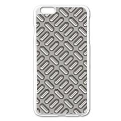 Grey Diamond Metal Texture Apple Iphone 6 Plus/6s Plus Enamel White Case