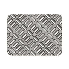 Grey Diamond Metal Texture Double Sided Flano Blanket (mini)