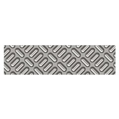 Grey Diamond Metal Texture Satin Scarf (oblong)