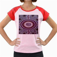 Spirit Of The Child Australian Aboriginal Art Women s Cap Sleeve T Shirt