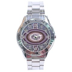 Spirit Of The Child Australian Aboriginal Art Stainless Steel Analogue Watch