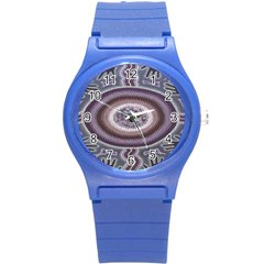 Spirit Of The Child Australian Aboriginal Art Round Plastic Sport Watch (s)