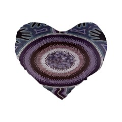Spirit Of The Child Australian Aboriginal Art Standard 16  Premium Heart Shape Cushions