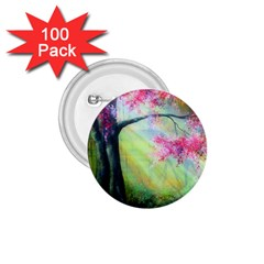 Forests Stunning Glimmer Paintings Sunlight Blooms Plants Love Seasons Traditional Art Flowers Sunsh 1 75  Buttons (100 Pack)