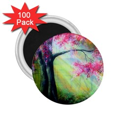 Forests Stunning Glimmer Paintings Sunlight Blooms Plants Love Seasons Traditional Art Flowers Sunsh 2 25  Magnets (100 Pack)
