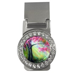 Forests Stunning Glimmer Paintings Sunlight Blooms Plants Love Seasons Traditional Art Flowers Sunsh Money Clips (cz)