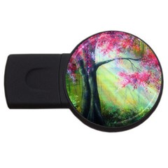 Forests Stunning Glimmer Paintings Sunlight Blooms Plants Love Seasons Traditional Art Flowers Sunsh Usb Flash Drive Round (4 Gb)