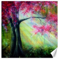 Forests Stunning Glimmer Paintings Sunlight Blooms Plants Love Seasons Traditional Art Flowers Sunsh Canvas 16  X 16