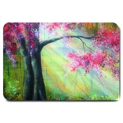 Forests Stunning Glimmer Paintings Sunlight Blooms Plants Love Seasons Traditional Art Flowers Sunsh Large Doormat