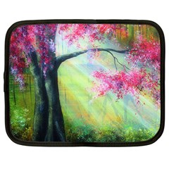 Forests Stunning Glimmer Paintings Sunlight Blooms Plants Love Seasons Traditional Art Flowers Sunsh Netbook Case (large)