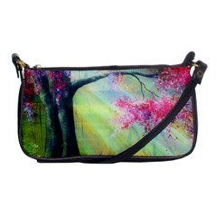 Forests Stunning Glimmer Paintings Sunlight Blooms Plants Love Seasons Traditional Art Flowers Sunsh Shoulder Clutch Bags